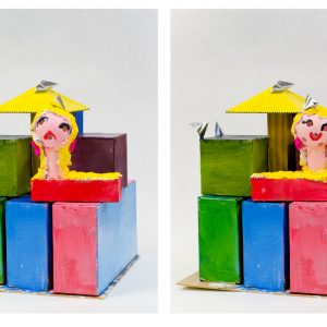 Danelle Fransen, Happy and Sad (front and back views)
