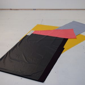 Black Meets Yellow on Left (Irregular Polygon Series)