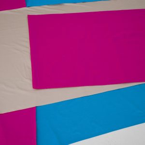 Pink Zig Blue Arm (Irregular Polygon Series)