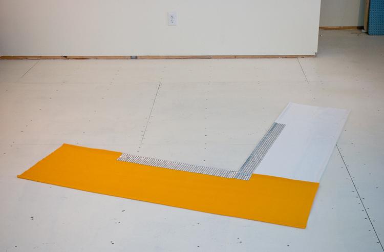 Yellow White Chevron (Irregular Polygon Series)