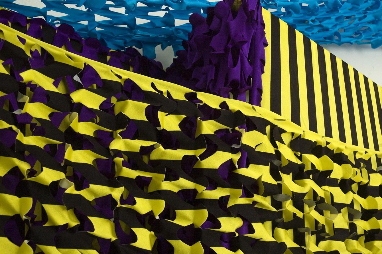 Yellow Black Stack, detail