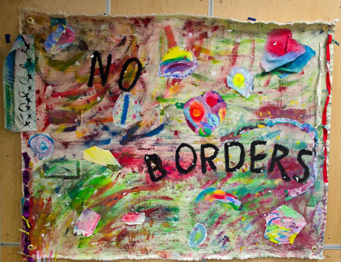 Vergie McDavid, Vivian Massie, Pat Knutesen, Wilma Walsh, No Borders