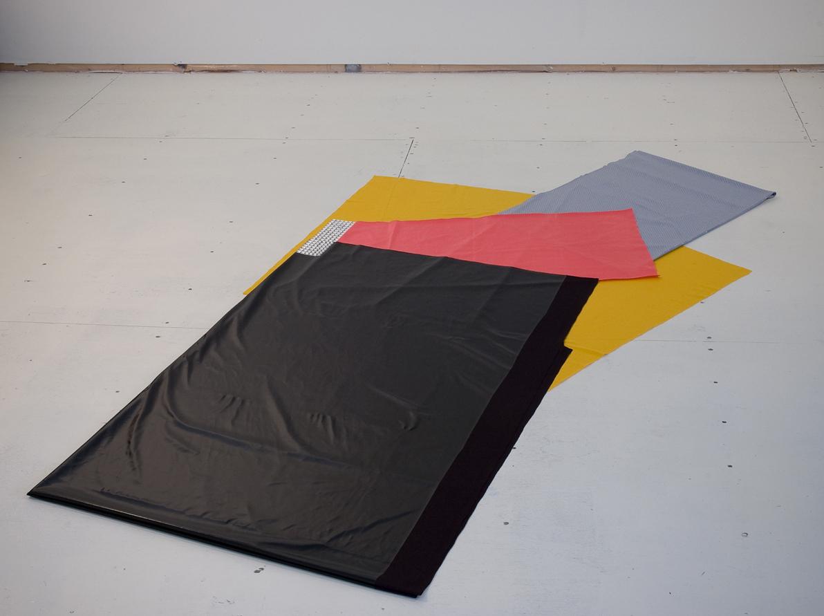 Black Meets Yellow on Left (Irregular Polygon Series)