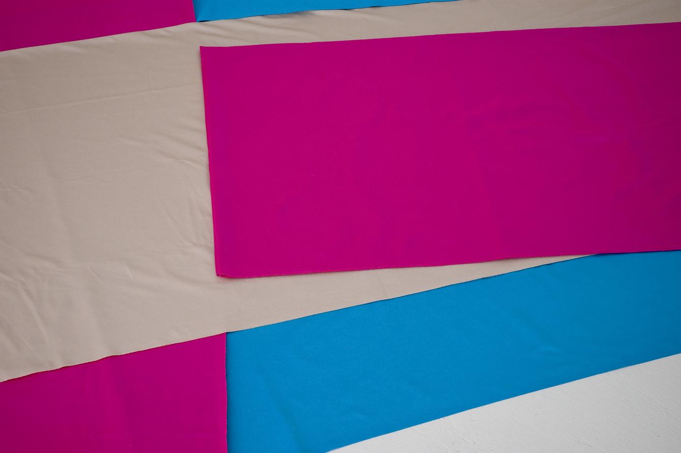 Pink Zig Blue Arm (Irregular Polygon Series)